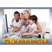 Heimarbeit als online Job mit PC und Internet bei freier Zeiteinteilung arbeiten. job image